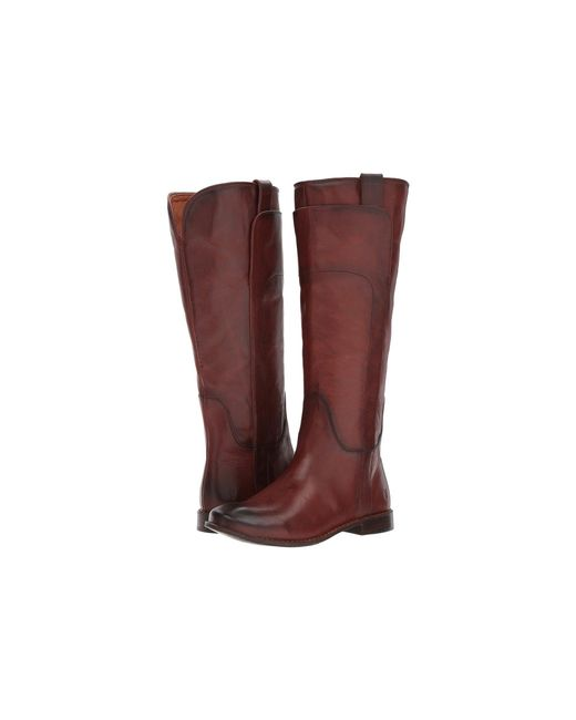 Frye - Brown Paige Tall Riding (redwood Smooth Vintage Leather) Women's Pull-on Boots - Lyst