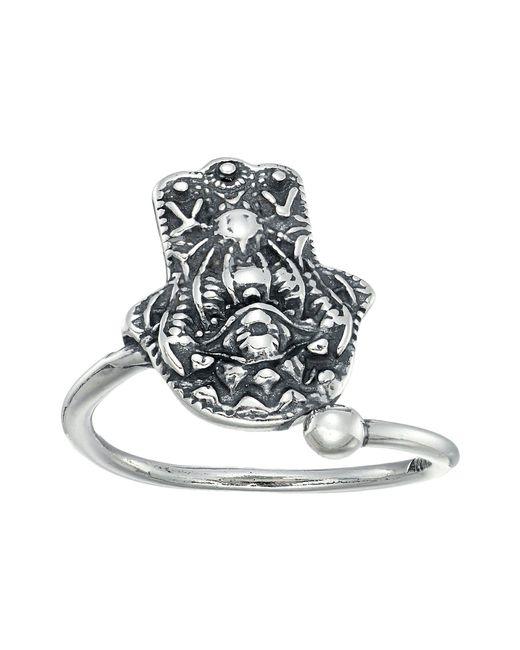 ALEX AND ANI | Metallic Hand Of Fatima Ring Wrap | Lyst