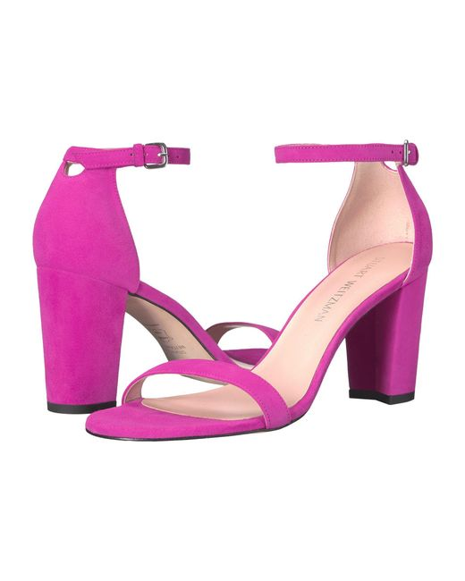 Stuart Weitzman | Pink The Nearlynude Sandal | Lyst