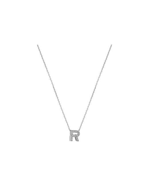Roberto Coin - Metallic Diamond Initial Necklace - Lyst