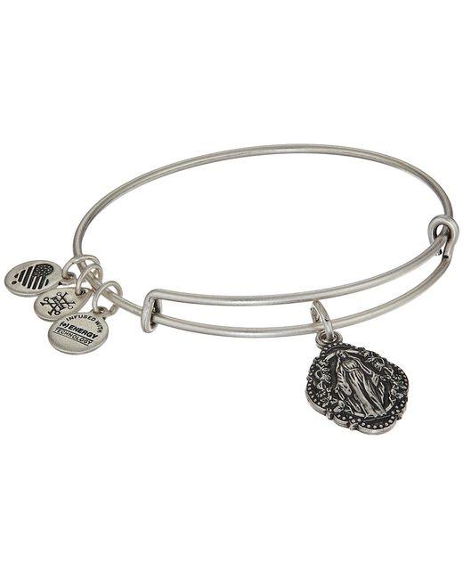 ALEX AND ANI - Metallic Mother Mary Iii Bangle (rafaelian Silver) Bracelet - Lyst