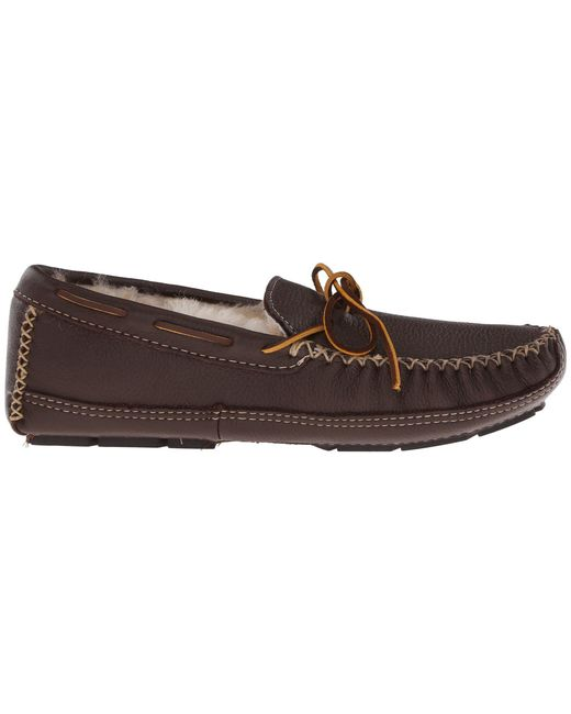 c202a7e95 ... Minnetonka - Brown Sheepskin Lined Moose Slipper (chocolate Moose) Men s  Moccasin Shoes for Men ...