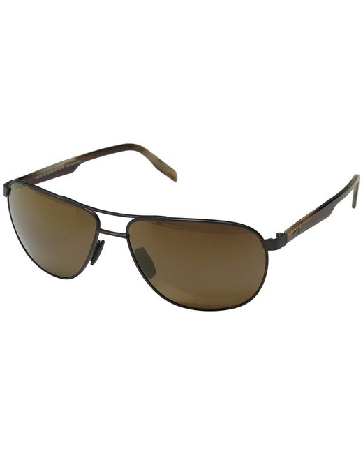 4dd4e0202b0a0 Maui Jim - Brown Castles (matte Chocolate hcl Bronze) Polarized Fashion  Sunglasses for ...