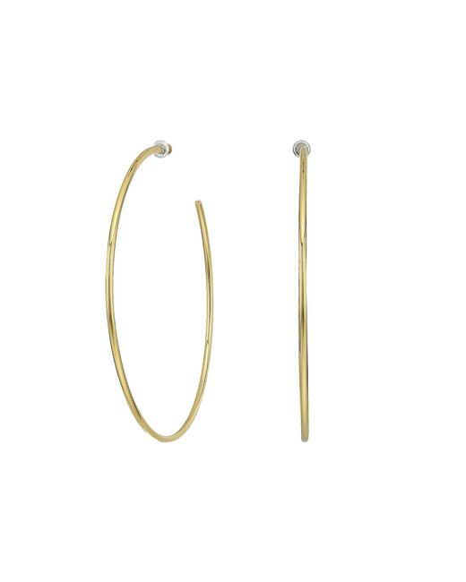 Vince Camuto - Metallic Thin Hoop Earrings (gold) Earring - Lyst
