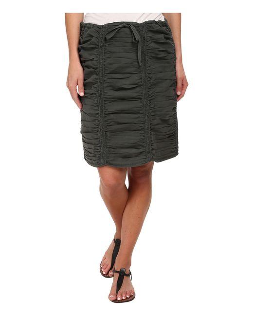 XCVI   Black Double Shirred Panel Knee Length Skirt   Lyst
