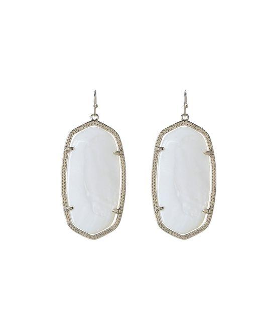 Kendra Scott | White Danielle Earrings | Lyst