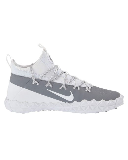 c472b1113bbf ... Nike - Gray Alpha Huarache 6 Elt Turf Lax (white white cool Grey ...