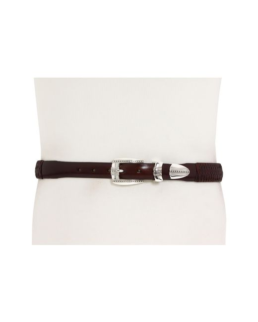 "Brighton | Brown 1-1/4"" - 1"" Eastwood Ornament Taper Belt for Men 
