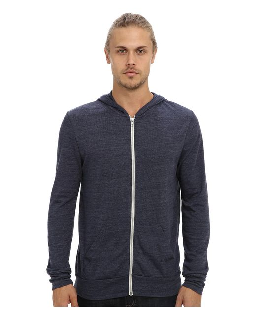 Alternative Apparel | Blue L/s Zip Hoodie for Men | Lyst