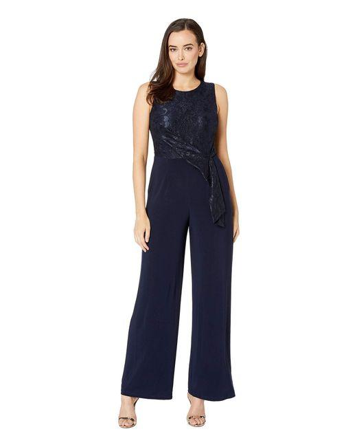 3d67eaba38ec Lauren by Ralph Lauren - Blue 6r Matte Jersey Toki Jumpsuit (lighthouse  Navy) Women s ...