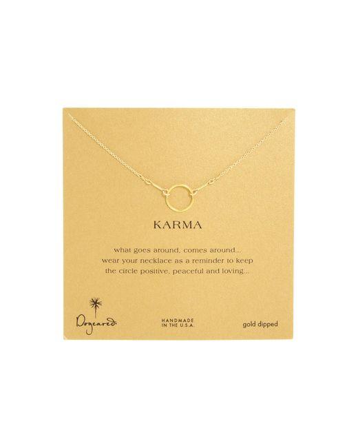 Dogeared | Metallic Karma Necklace 16 Inch | Lyst