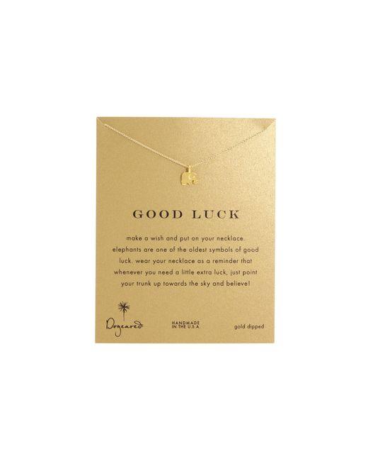 Dogeared   Metallic Good Luck Elephant Reminder Necklace   Lyst
