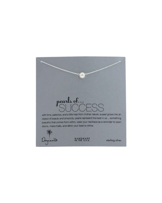 """Dogeared   Metallic Pearls Of Success Necklace 16""""   Lyst"""