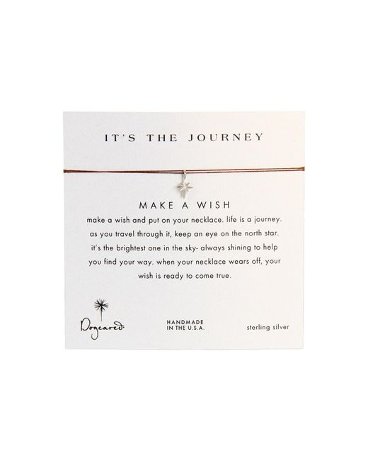 Dogeared   Brown Make A Wish It's The Journey Necklace   Lyst