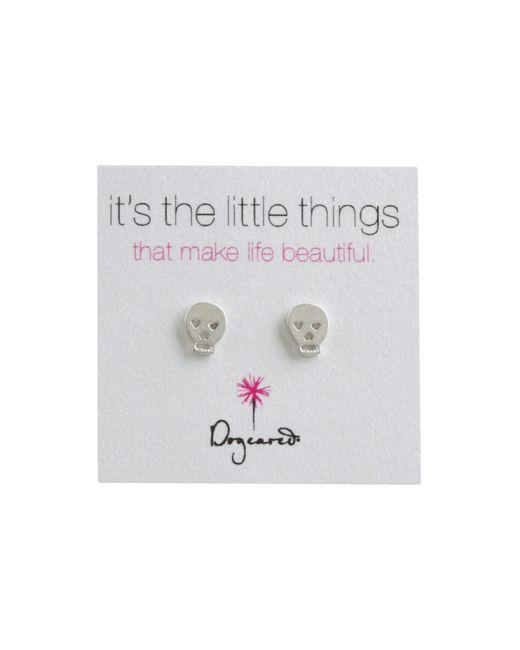 Dogeared | Metallic It's The Little Things Earrings Skull | Lyst