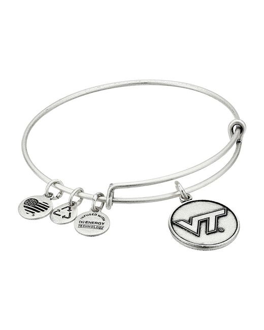 ALEX AND ANI - Metallic Virginia Tech Logo Expandable Bangle - Lyst