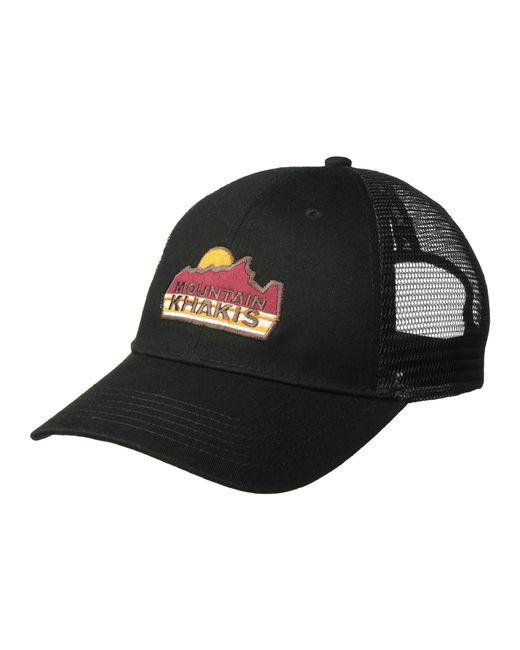 12406ee2d2d Lyst - Mountain Khakis Sunrise Trucker Cap (black) Caps in Black for Men