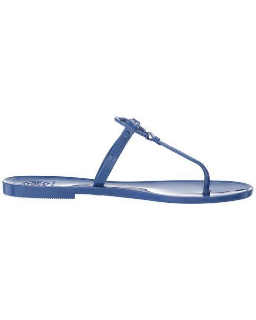685f45b49 ... Lyst Tory Burch - Blue Mini Miller Flat Thong (rose Gold) Women s  Sandals ...