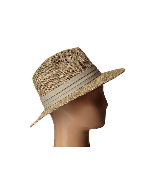 619acbbebb6f3 ... San Diego Hat Company - Natural Sgm502 Seagrass Panama Fedora W  Cloth  Band (black ...