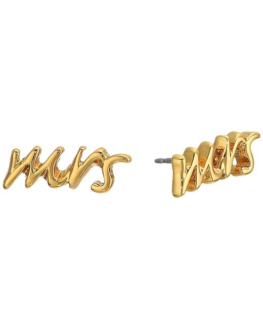 "Kate Spade | Metallic Say Yes ""mrs"" Studs | Lyst"