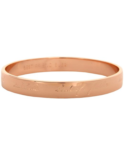kate spade new york | Metallic Bridesmaids Idiom Bangle | Lyst