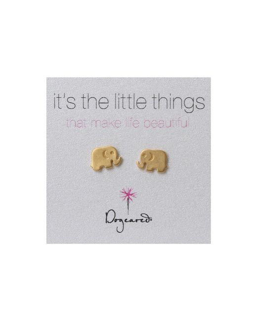 Dogeared | Metallic Little Things Elephant | Lyst
