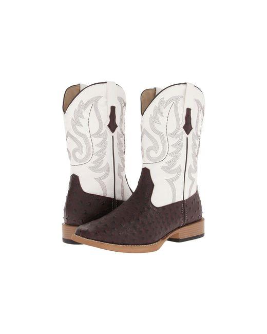 Lyst Roper Ostrich Print Square Toe Cowboy Boot Black
