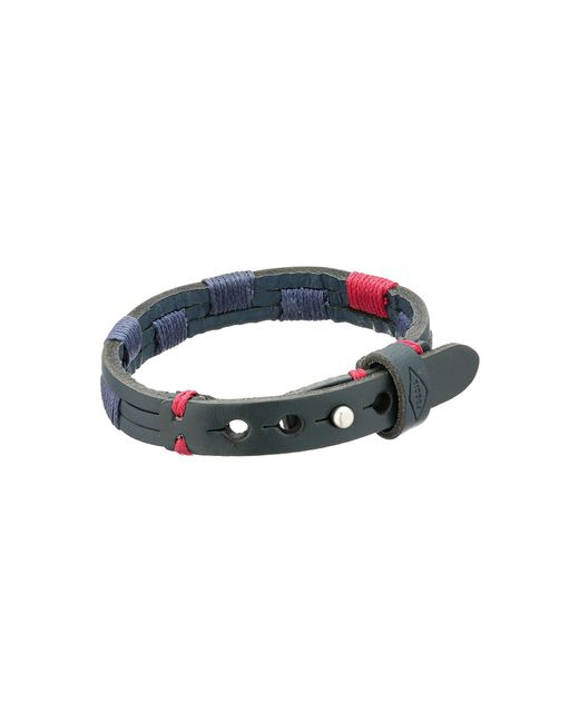 Fossil | Blue Leather Adjustable Bracelet | Lyst