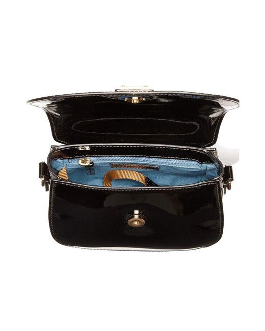6c7c3e18739d ... Dooney & Bourke - Black Beacon Patent Saddle Crossbody (denim/denim  Trim) Handbags ...