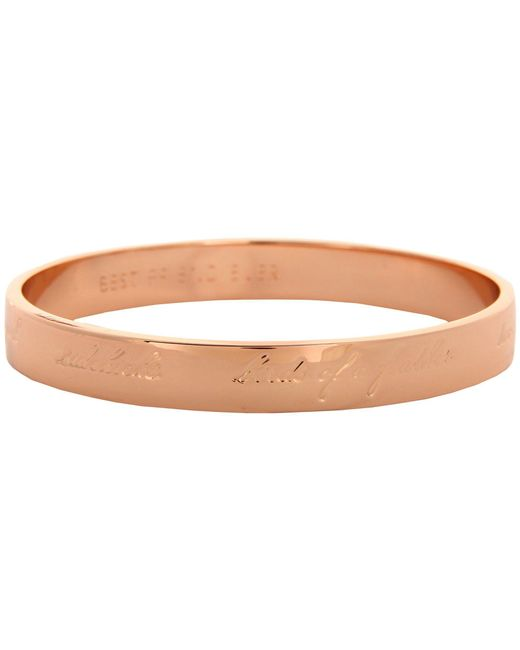 Kate Spade - Metallic Bridesmaids Idiom Bangle - Lyst