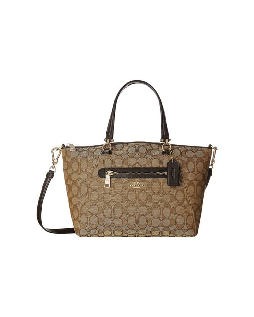COACH | Natural Signature Prairie Satchel | Lyst