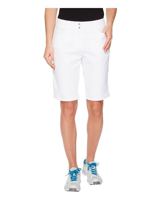 Adidas Originals - White Essentials Lightweight Bermuda Shorts (hi-res Aqua) Women's Shorts - Lyst