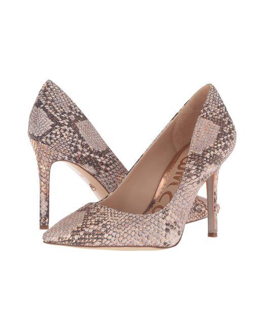 d0a3185bc Sam Edelman - Multicolor Hazel (gold Degrade Crystal Patent) Women s Shoes  - Lyst ...