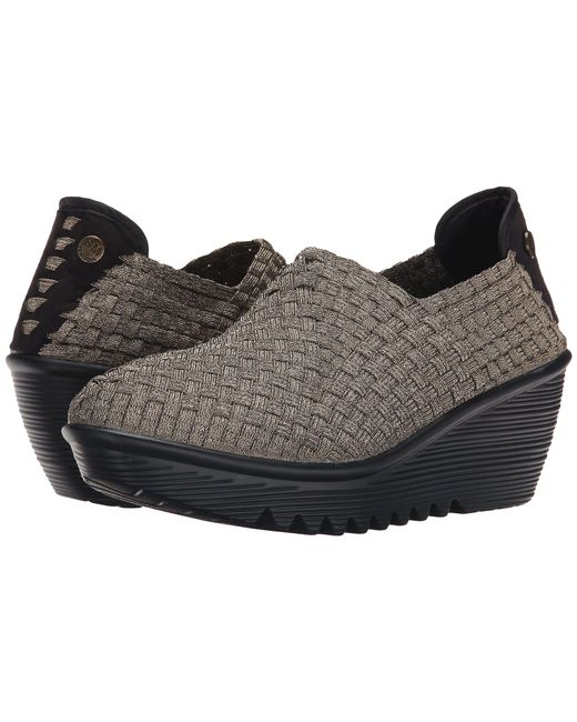 Bernie Mev - Gray Gem (black) Women's Wedge Shoes - Lyst