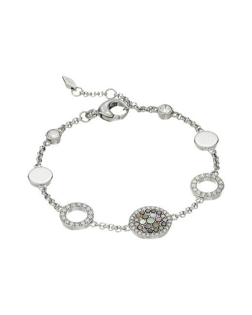 Fossil - Metallic Ladies Silver Glitz Bracelet - Lyst