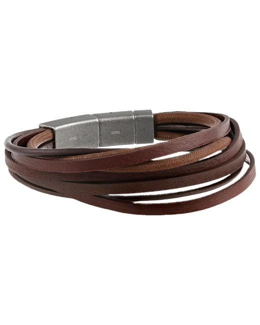 Fossil | Brown Multi Strand | Lyst