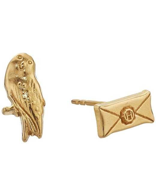 ALEX AND ANI - Multicolor Harry Potter Owl Post Earrings (14kt Gold Plated) Earring - Lyst