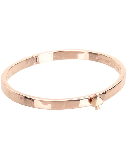 Kate Spade | Metallic Spade Thin Hinge Bangle | Lyst