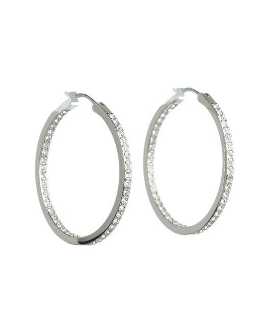 Fossil | Gray Glitz Hoops Small Earrings | Lyst