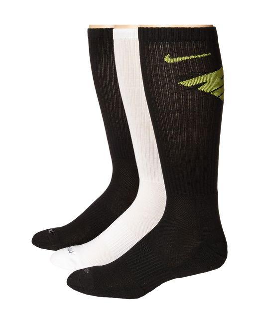 Nike | Black Dri-fit Fly Crew 3-pair Pack | Lyst