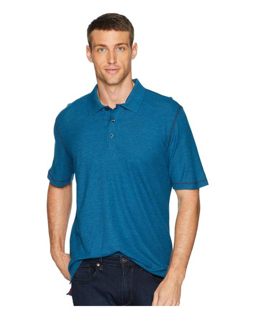 Robert Graham - Blue Messenger Polo (heather Black) Men's Short Sleeve Pullover for Men - Lyst