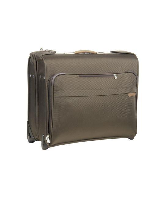Briggs & Riley   Green Baseline Deluxe Wheeled Garment Bag   Lyst