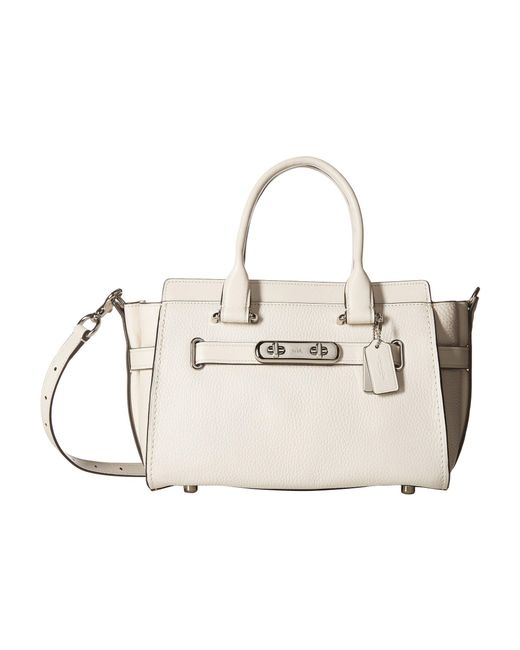 COACH - Multicolor Swagger Carryall 27 In Pebble Leather - Lyst