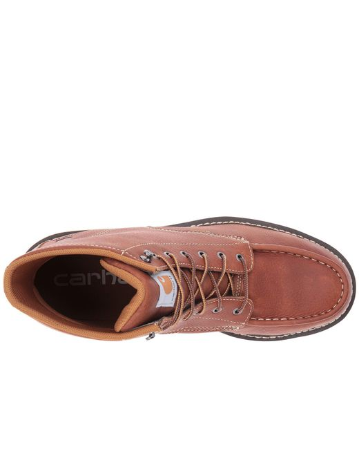 32f08604b11e ... Carhartt - Gray 6-inch Steel Toe Waterproof Wedge Boot (tan Oil Tanned  Leather ...