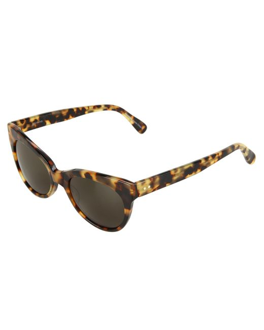 Kamalikulture   Brown Square Cat Eye Sunglasses   Lyst