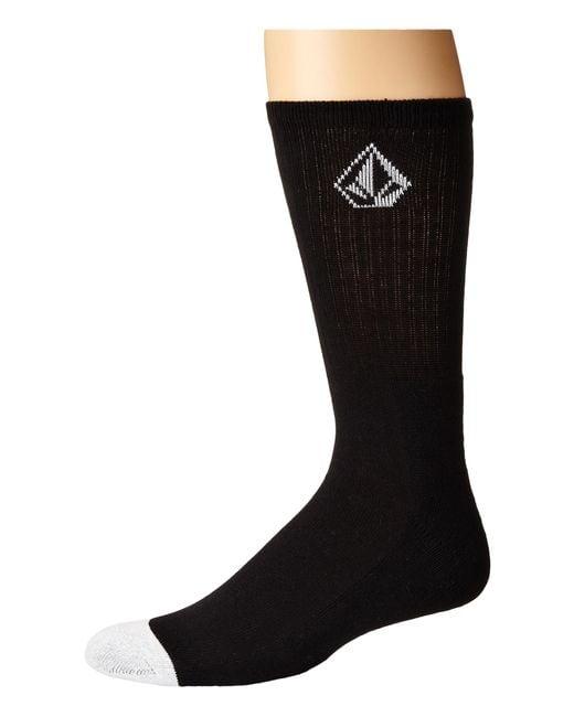 Volcom | Black Full Stone Sock for Men | Lyst