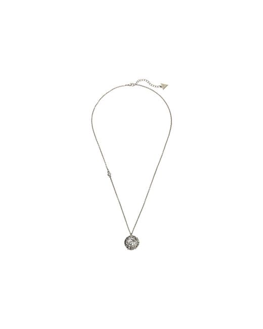Guess | Metallic Cutout Flower Ball Pendant | Lyst