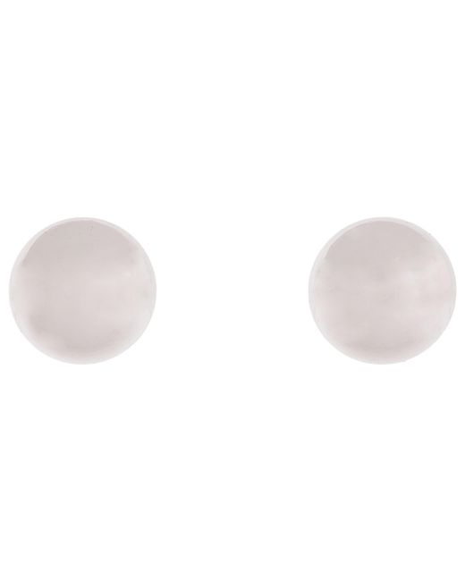 Lauren by Ralph Lauren | Metallic 12mm Silver Ball Studs | Lyst