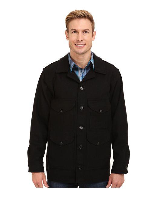 Filson - Mackinaw Cruiser (black) Men's Coat for Men - Lyst