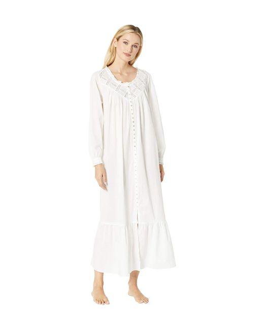 546efcd378 Eileen West - Cotton Lawn Ballet Button Front Coat (white) Women s Robe ...